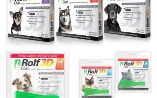 טיפות רולף קלאב 3D מ פרעושים לכלבים וחתולים