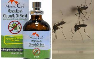 אמא טיפול דוחה יתושים שמן