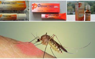ג'ל Fenistil מ עקיצות יתוש: הוראות, ביקורות אנלוגים
